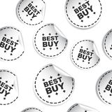 Best buy sticker seamless pattern background icon. Business flat Stock Photos