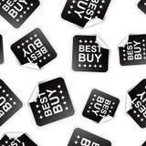 Best buy sticker seamless pattern background icon. Business flat Stock Photo