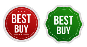 Best buy stickers set Royalty Free Stock Images