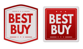 Best buy stickers set Royalty Free Stock Photo