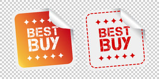 Best buy stickers. Vector illustration on isolated background Stock Photography