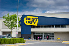 Best Buy store entrance. Best Buy specialty retailer of consumer electronics royalty free stock images