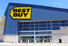 Best Buy Store. In Etobicoke, Ontario, Canada. Best Buy is a major retail chain that sells all kinds of consumer electronics products Royalty Free Stock Photos