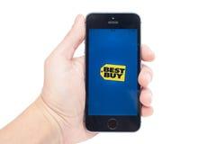 Best Buy sur l'iPhone 5S Photographie stock