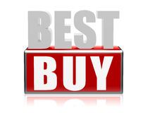 Best buy in 3d letters and block Royalty Free Stock Image