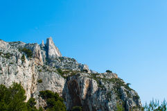The best calanques, Marseille, France. Natural reserve park for climbing, Marseille Stock Photo