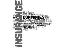 Best Car Insurance Company come è Person To Choose Word Cloud Immagini Stock Libere da Diritti