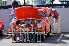 Best car in show. People admiring an antique Volkswagen during the 2012 Annual Antique Car Show in Maspeth, New York Stock Photography