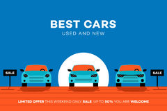 Best Cars In The City. Vector Illustration For Rent Or Trading Company Royalty Free Stock Photo