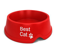 Best cat bowl Royalty Free Stock Images