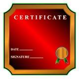 Best certificate Stock Image