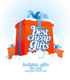 Best cheap gifts design. Stock Images