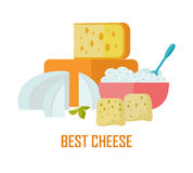 Best cheese banner. Natural Farm Food. Stock Photos