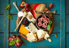 Best cheese platter. Royalty Free Stock Image