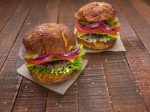 The best cheeseburgers from fresh meat Stock Photography