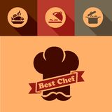 Best chef icons Royalty Free Stock Images