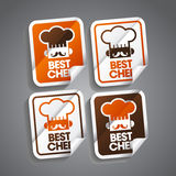 Best Chef Sticker. S set Stock Photo