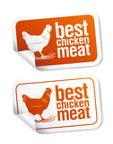 Best Chicken Meat Stickers Royalty Free Stock Image