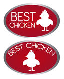 Best chicken tags Stock Photography