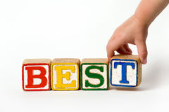 Best (Children's Blocks) Royalty Free Stock Photography