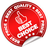 Best choice. Sticker isolated on white Royalty Free Stock Images