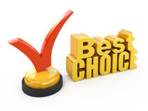 Best choice. Concept Check mark award Royalty Free Stock Photography