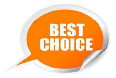 Best choice. Oval sticker on white background Royalty Free Stock Photography