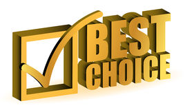 Best choice. Golden illustration sign isolated over white Stock Photo