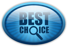 Best choice. Shiny oval logo Stock Image