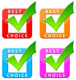 Best choice. Colorful 'best choice' commercial icons Royalty Free Stock Photo