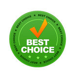 Best Choice. Green Best Choice Button on white background Royalty Free Stock Photos
