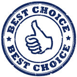 Best choice. Stamp isolated over white Royalty Free Stock Photography