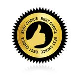 Best choice. Sticker / label isolate on white background Royalty Free Stock Images
