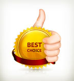Best choice. сomputer illustration on white background Royalty Free Stock Photography