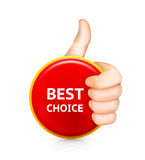 Best choice. Best choice, сomputer illustration on white background Royalty Free Stock Image