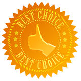 Best choice. Gold seal illustration Royalty Free Stock Images