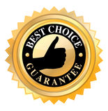 Best choice. Label in golden color  on white Royalty Free Stock Images