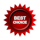 Best Choice. 3D of best choice badge or seal Royalty Free Stock Photography