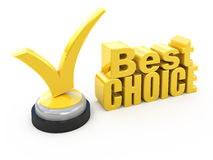 Best choice award. 3d Best choice award isolated on white Stock Image
