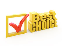 Best choice award. 3d Best choice award isolated on white Stock Photos