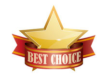 Best choice award graphic sign Stock Images