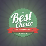 Best choice badge on dark background. Royalty Free Stock Image