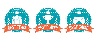 Best Choice Badge Game Element Set Stock Images