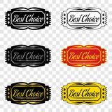 Best choice, badge of best choice. Best choice, badge with inscription of best choice, design element Royalty Free Stock Image