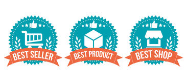 Best Choice Badge Shopping Element Set Royalty Free Stock Image