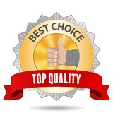 Best Choice Badge. Best Choice sign with red ribbon Stock Photos