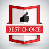 Best choice badge with on white background. Stock Photos