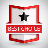 Best choice badge with on white background. Stock Image