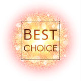 Best choice banner. Explosion with gold glitter. Stock Images
