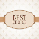 Best choice banner with golden ribbon Stock Photo